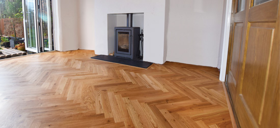 Installation of parquet flooring in Didsbury M20
