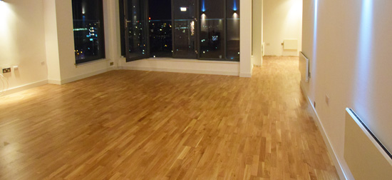 Wood flooring installation Manchester city centre