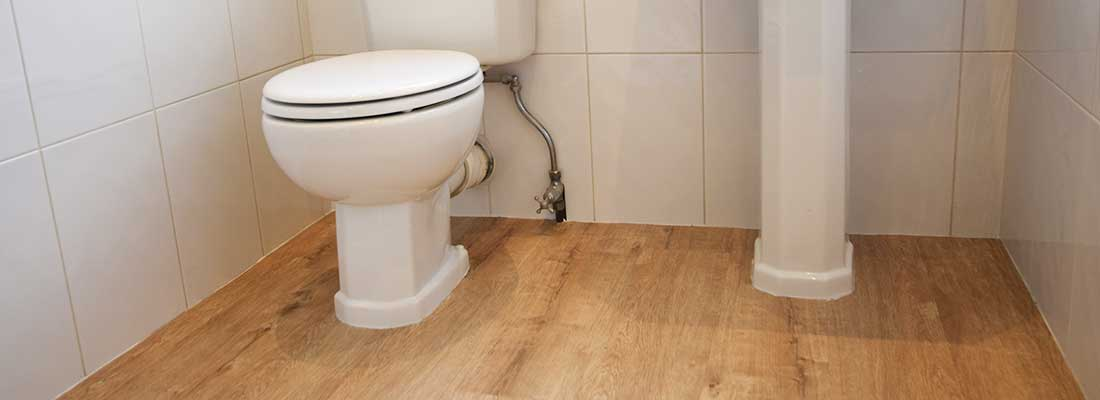 Installation of Polyflor Camaro Flooring in to a bathroom in Didsbury