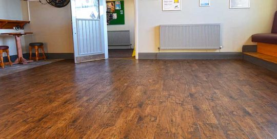 Installation of Karndean Commercial Flooring for a bar and restaurant