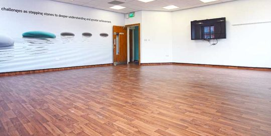 Installation of Polyflor Safety Flooring in Manchester City Centre
